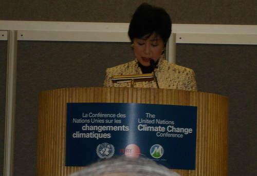 小池環境大臣スピーチ